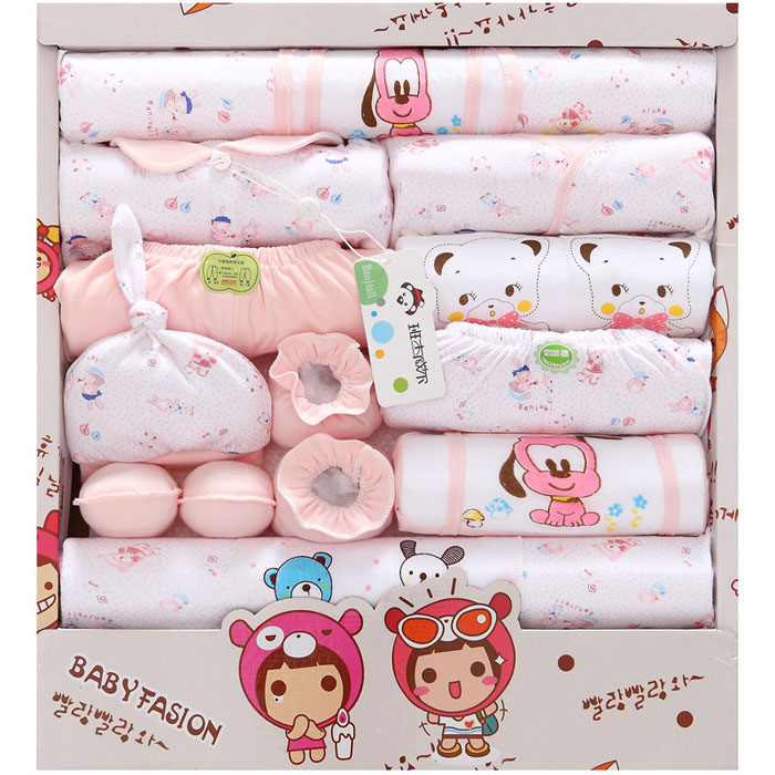 NEW 2016 Baby clothing girl boy sets Newborn Gift baby clothing for infant girls fashion Cotton three colors 18pcs Summer Fall(China (Mainland))