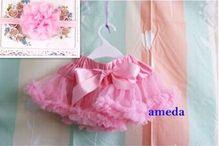 Baby infant girls pettiskirt skirt chiffon tutu Photography skirt two layers chiffon skirt with headband hairband 0-18Mo(China (Mainland))