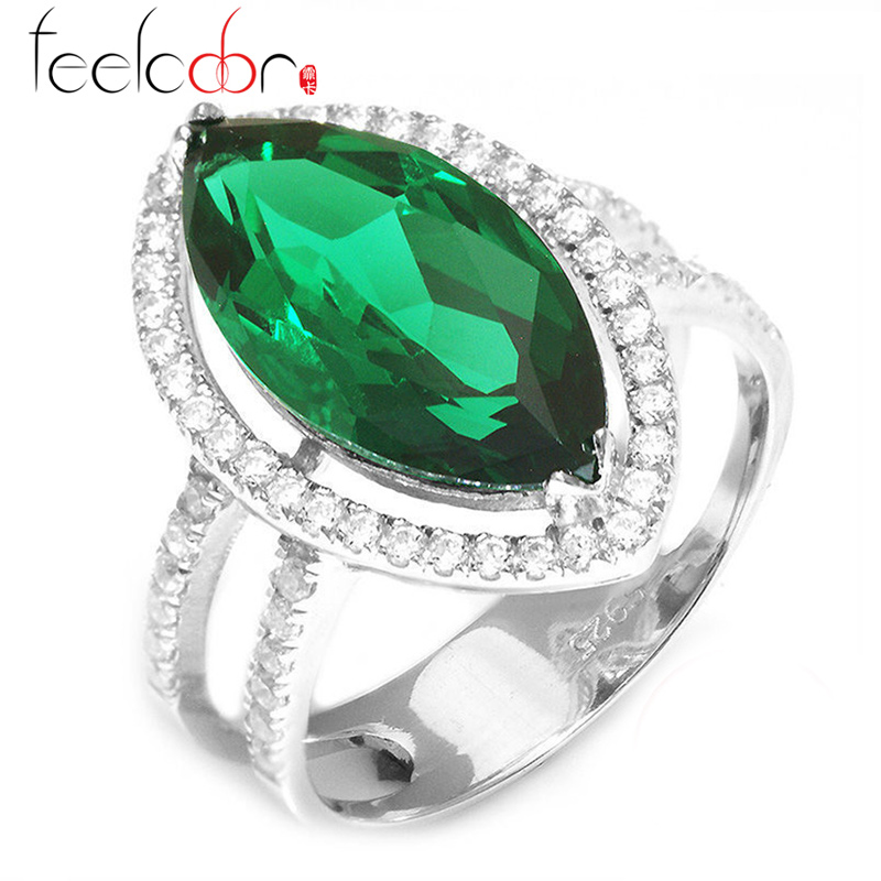 Brand New 7.28ct Nano Russian Emerald Ring 925 Solid Sterling Silver Marquise Cut Classic Fashion Accessories Gift For Women<br><br>Aliexpress