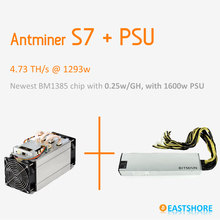 Bitcoin Miner Antminer S7 4.73TH Asic Miner 4730GH Newest Btc Miner Better Than Antminer S5 With PSU