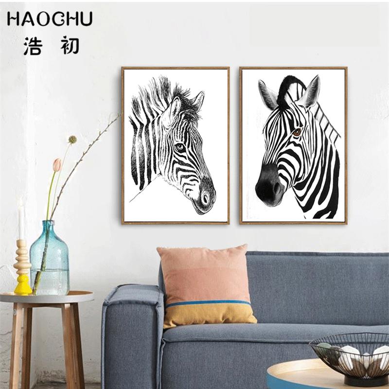 Perfekt Bild Zebra Wohnzimmer By Zebra Leinwand Malerei Werbeaktion Shop F 252 R  Werbeaktion ...