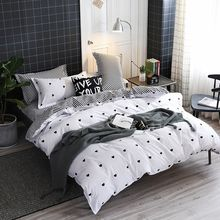 Solstice Home Textile Cartoon Polar bear Bedding Sets Children's Beddingset Bed Linen Duvet Cover Bed Sheet Pillowcase/bed Sets(China)