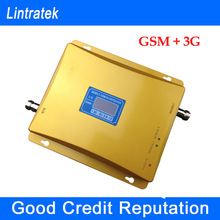 2014 Original New Dual Band LCD display 3G GSM Mobile Phone Signal Repeater GSM 900mhz  WCDMA 2100mhz Booster Amplifier