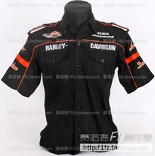 3 styles F1 automobile race clothing work wear h2 shirt full embroidery cotton-padded(China (Mainland))