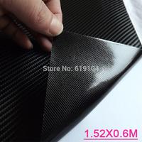 Free-shipping!! 1.52X0.6m/0.3M Air free bubbles black 4D car carbon vinyl wrap for car