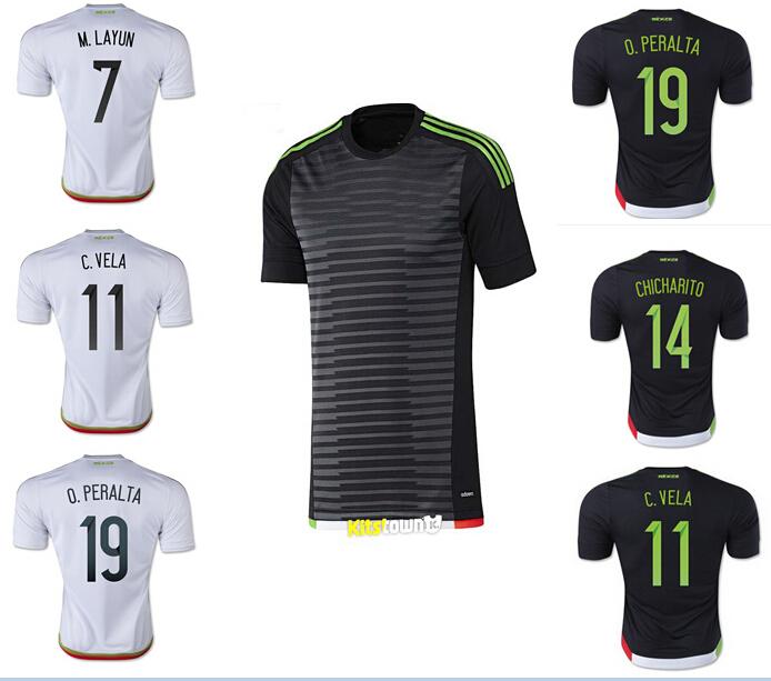 Thailand Quality CHICHARITO 2015 MEXICO soccer jersey 15 16 G.DOS SANTOS Cheap shirt 15/16 Mexico football soccer shirts(China (Mainland))