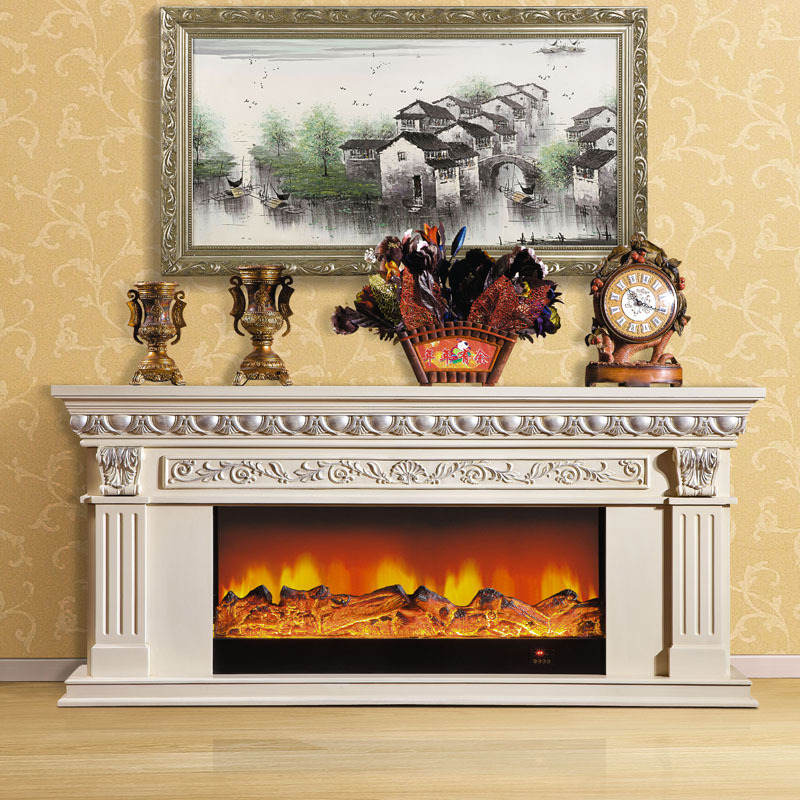 2 M High End European Style Fireplace Wood Engraving