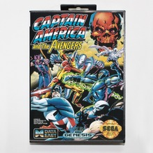 Buy 16 bit Sega MD game Cartridge with Retail box Captain America and the Avengers game card for Megadrive Genesis system for $14.90 in AliExpress store