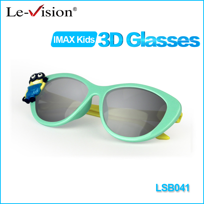 2016 Free Shipping Le-Vision Lovely Kids IMAX 3D Glasses Passive For RealD Cinema 3D System/ TV/ Home Theater Active Animation(China (Mainland))