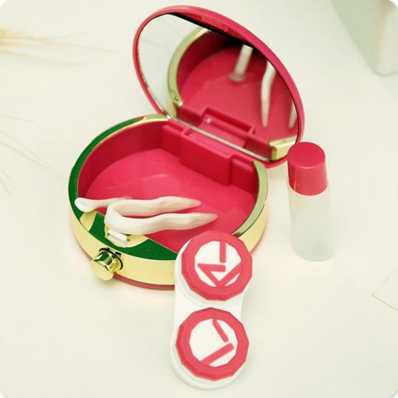 5 Regalo de Navidad de Color Botellas de Perfume Accesorios de lentes de Contacto Lentes de Contacto caja de la caja de lentes de Gafas bolso Gafas Casos