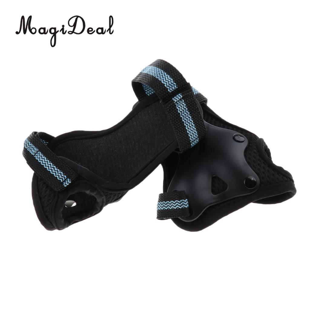 MagiDeal 1 Pair Inline/Roller Skating Wrist Guards Pads Gloves Hand Palm Protection for Skateboards Cycling Skating Kayaking