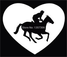 New Horse Racing Jockey Thorobred Car Window Sticker Truck Bumper Auto SUV Door Vinyl Decal 9 Colors