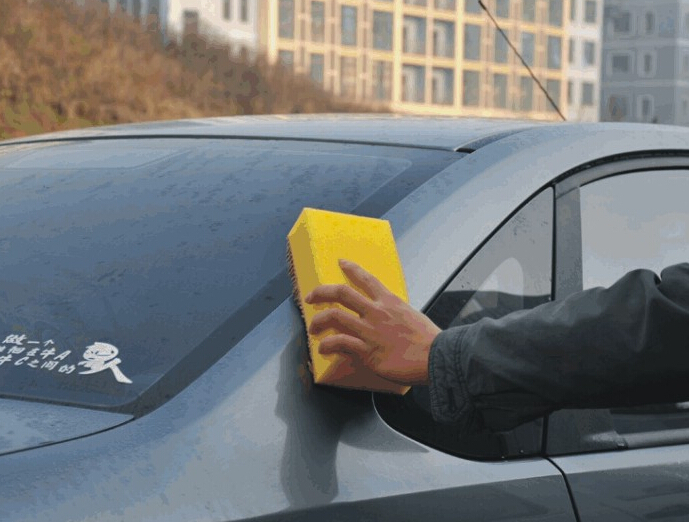 Practical Anti Scratch Rectangle Auto Car Wash Sponge + Microfiber Chenille Car Cleaning Products Maintenance Care Free Shipping(China (Mainland))