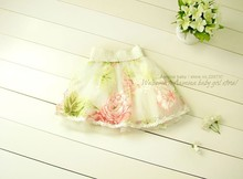 [Aamina] Nice! flower baby girls tutu skirt, summer/spring/fall girls clothes,wholesale baby boutique clothing (2613SK)