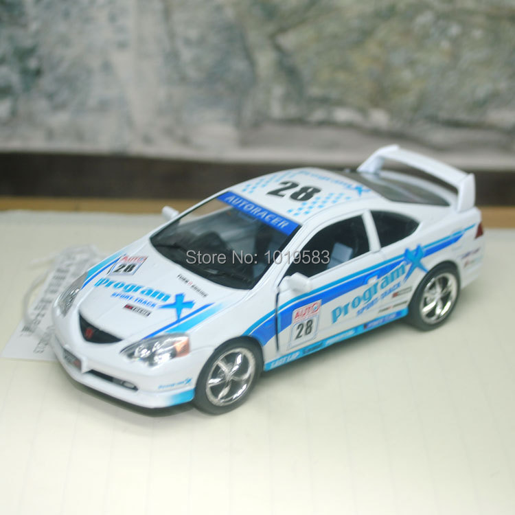 Brand New 1/34 Scale #28 Racing Car Honda INTEGRA TYPER Diecast Metal Pull Back Car Model Toy For Gift/Children -Free Shipping(China (Mainland))