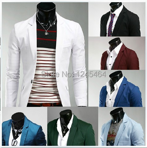 plus size men suit 2014 Spring Fashion Korean 8 Colors Slim Fit Mens Suit Jacket Casual Business Dress Blazers - Cozystar Trading Co., Ltd.(high discount store)
