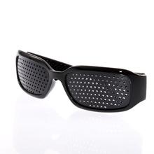 New Vision Spectacles Goggles Eyesight Improve Pinhole Small Pin Hole Eyes Training Exercise Glasses Eyewear Black Wholesale(China (Mainland))