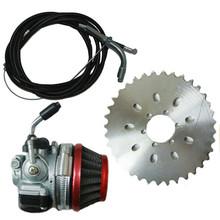 2 stroke 49cc To 80cc Engine Bicycle Motor Sprocket Racin Carb Kit(China (Mainland))