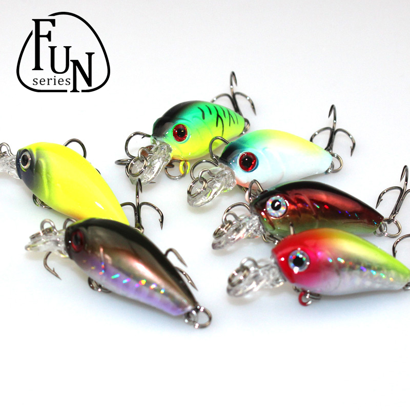 FunSeries Crankbait Vib Artificial Fishing Lure Rock Wide Wobble Slow Floating Casting Trolling Bait Fishing Tackle(China (Mainland))