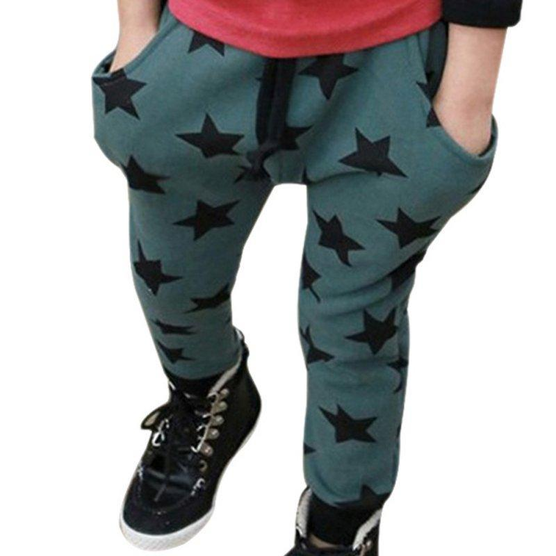 Toddler Boys Cotton Long Pants Stars Pattern Casual Pants Boys Bottoms 6M-4Y 2 Colors(China (Mainland))