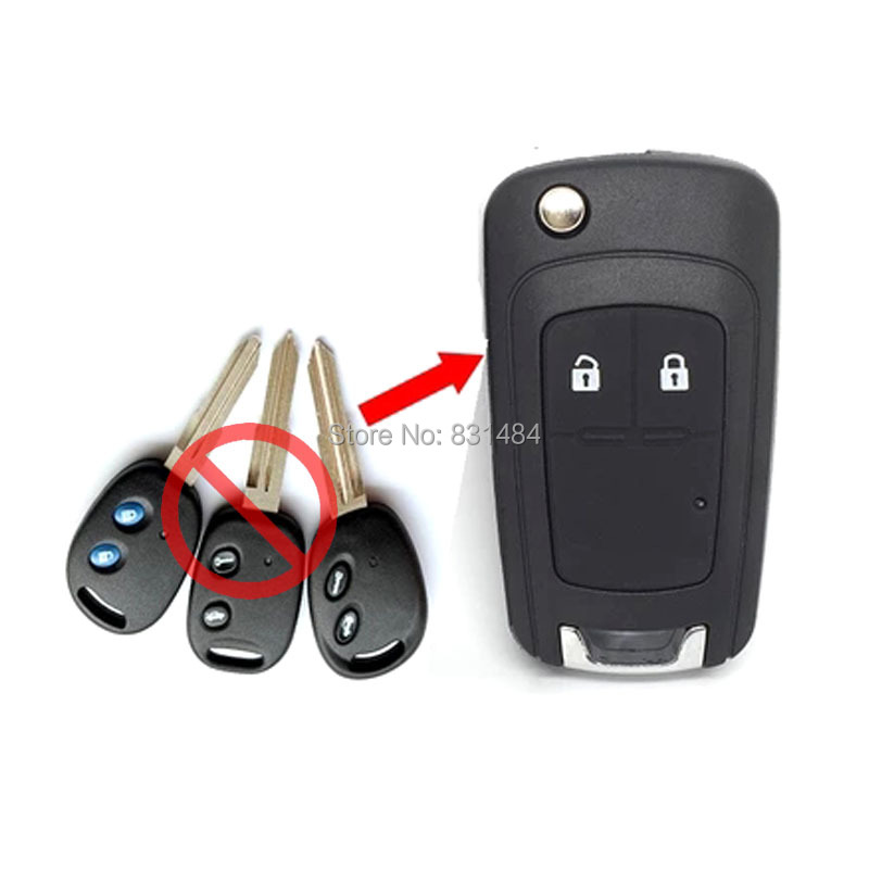 Replacement Folding Remote Control Key Blank for chevrolet epica lova spark remote flip key case 2 Button fob(China (Mainland))