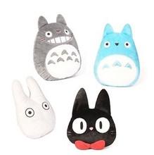 Japan Anime TOTORO Plush Toy Stuffed Pillow Cushion Cartoon White Totoro Doll /  KiKis Delivery Service Black Cat Toys(China (Mainland))