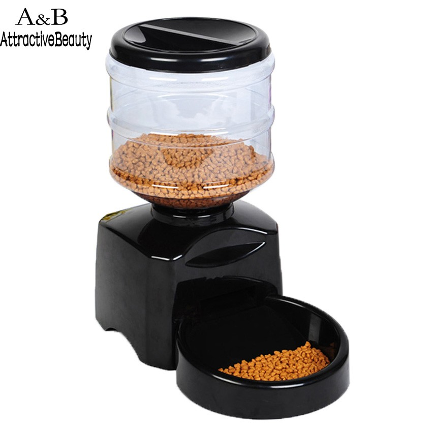 New 5.5 Liter Large Automatic Pet Dog Cat Feeder Electronic Portion Control drop shipping us6(China (Mainland))