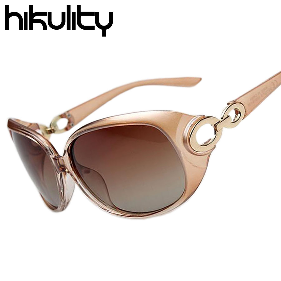 Brand Design Big Large Round Frame Sun Shadow Champagne Glasses for Women Ladies Luxury Fashion Classic Gradient Sunglasses(China (Mainland))