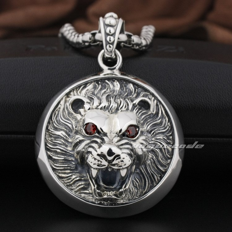 Huge Lion Knight King 925 Sterling Silver Pendant 8Q003(Necklace 24inch)<br><br>Aliexpress