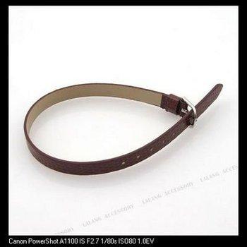 30xCoffee Flecky 7mm Band Buckle Imitational Leather Bracelet Charms Bracelet 160155