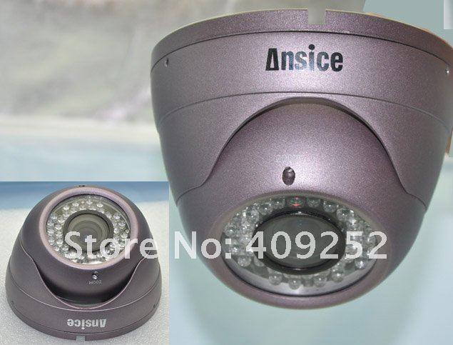 Free Shipping CCD IR Varifocal lens 2.8-8mm SONY EFFIO-E 700TVLine 36LED CCTV Camera high resolution security surveillance(China (Mainland))