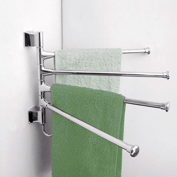 Stainless Steel Towel Bar Rotating Towel Rack Bathroom Kitchen Towel Polished Rack Holder Hardware Accessory PTSP(China (Mainland))