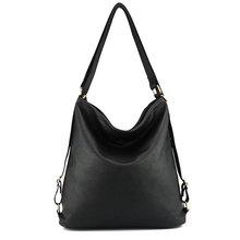 Artificial leather shoulder bag female big handbag women black color new arrival totes bags woman hobos(China (Mainland))