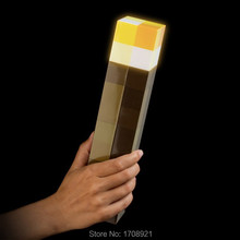 Hand Held or Wall Mount Room Decoration Or Weapons Original LED Minecraft Light Night Wall Torch Christmas Toys Lamp(China (Mainland))