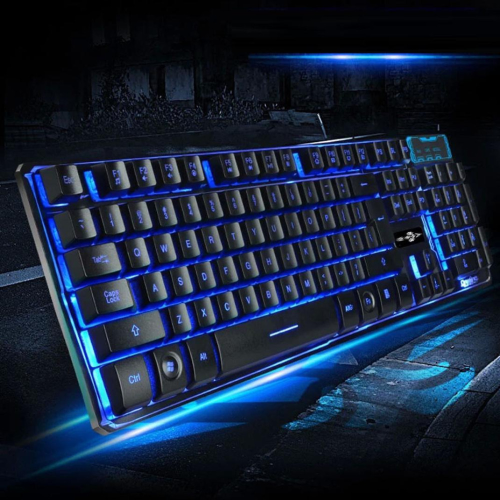 LED Mechanical Touch Feel Gaming Keyboard Pro Gaming Gamer USB Wired Backlit Keyboard Floating 3 Color for Dota 2 PC/Laptop(China (Mainland))