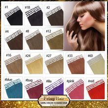 "Cheap Tape Hair Extenisons 18"" 20"" 22"" 24"" 20pcs Remy Tape Thick Skin Weft Brazilian Hair Extension Beautiful Products Promotion(China (Mainland))"