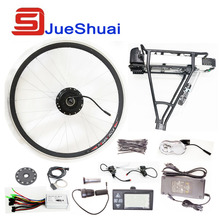 250W/350W/500W 36V Rear Carrier Battery 700C Wheel Electric Bicycle Conversion Kit With LED Display Brake Lever Hub Motor Refit(China (Mainland))