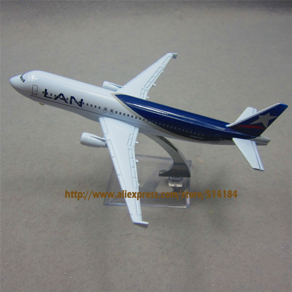 16cm Alloy Metal Chile Air Lan Airlines Airbus 320 A320 CC-CQP Airways Plane Model Airplane Model w Stand Aircraft Toy Gift(China (Mainland))
