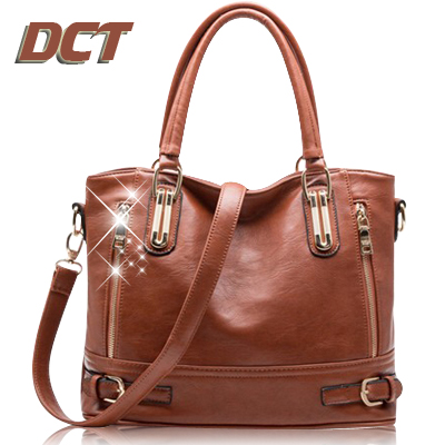 Genuine Leather Bag For Women Leather Bags Handbags Women Famous Brand Brown Crossbody Bag Ladies Designer Handbags High Quality(China (Mainland))