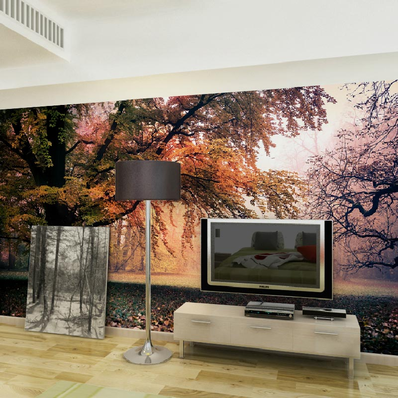 Online get cheap wall murals nature for Cheap wallpaper mural