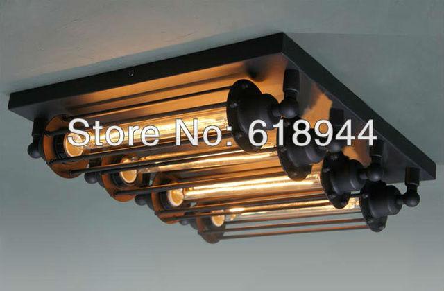 4 lamps amerikaanse rustieke vintage plafondlamp e27 plafond verlichtingsarmaturen eetkamer art - Deco van de eetkamer ...