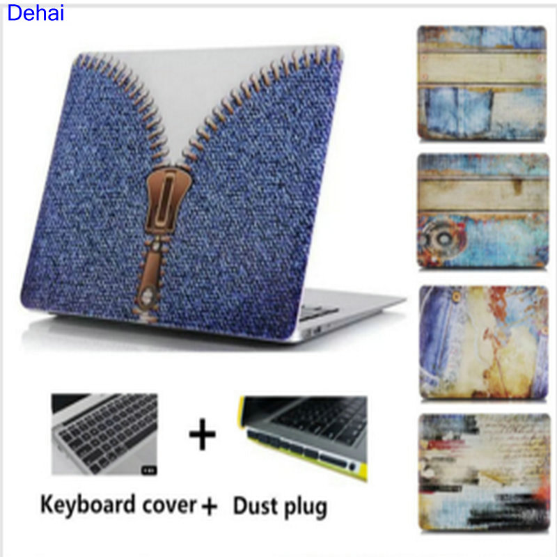 3in1 cheap price Cowboy jeans Water stick shell Hard laptop Cover Case For Macbook Pro 13 Air 13 15 11 Retina 12 For Mac book(China (Mainland))