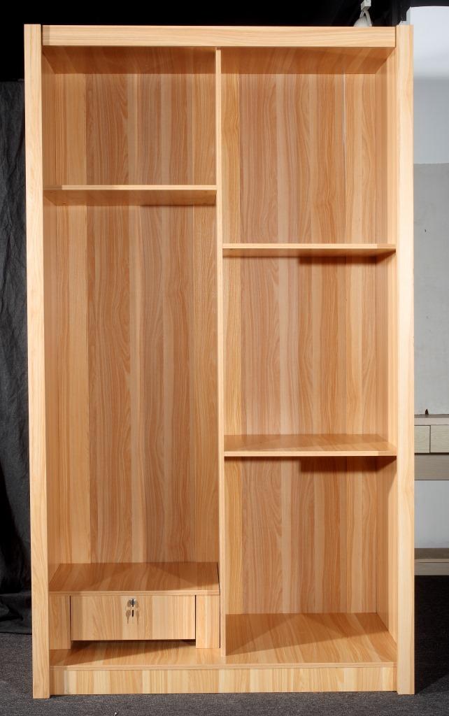 Simple muebles de madera maciza de madera ensamblada for Roperos de madera para dormitorios