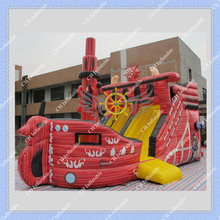 DHL Free Shipping Deluxe Inflatable Pirate Boat Slide, Large 6meters /20ft Inflatable Boat Slide for Sale(China (Mainland))