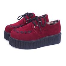 Женщины Квартиры Обувь 2016 новая мода creepers обувь женщина плюс размер Лианы туфли на платформе(China (Mainland))
