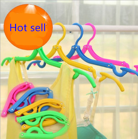Space Saving Wardrobe Foldable Fold Hook Travel portable plastic hangers Tourism simple folding clothes rack Non-trace dryer(China (Mainland))