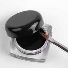 Hot Gel Eyeliner Black Long-lasting Eye Liner Delineador Waterproof Eye Liner Makeup Eyeliner Gel + Brush ( as a Gift ) #10709(China (Mainland))