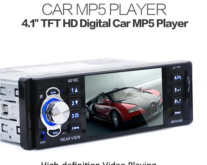 """12V 4.1"""" TFT HD Car Video Audio MP5 Player Rear View Camera with Radio USB SD AUX Ports LCD Display(China (Mainland))"""