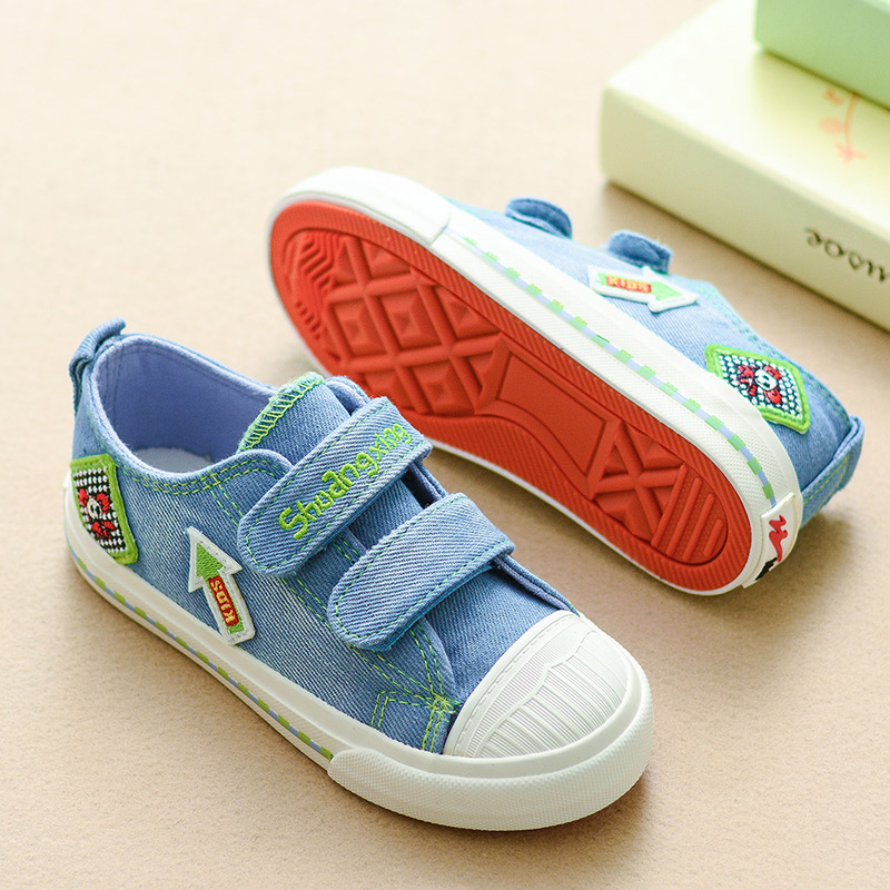 2016 New Children Canvas Shoes For Kids Baby Boys Canvas Shoes Girls Flat Sneakers Low Casual School Student Sports Shoes 25-37(China (Mainland))