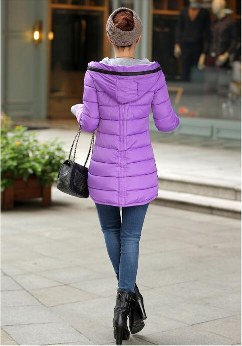 Зима средне долгосрочной вниз хлопок плюс размер Жакет женский тонкий дамы куртки и пальто женщин хлопок мягкие куртка jj9059